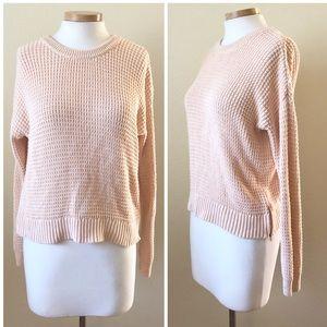 Banana Republic Pink Nude Knit Sweater